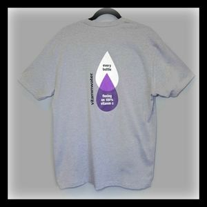 🍁 NEXT LEVEL Vitamin Water Promo Graphic Tshirt